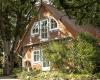 Aussenansicht, das Ferienhaus auf dem Barkhof Egestorf in der Lüneburger Heide