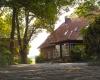 Vorderansicht, das Ferienhaus auf dem Barkhof Egestorf in der Lüneburger Heide